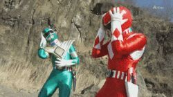 gifa oh noes facepalm power rangers